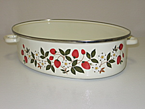 Sheffield Strawberries N Cream Oval Roaster Pan