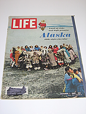 Life Magazine October 1 1965 Alaska 49th State & W Mays