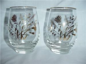 Libbey Flower & Wheat Glasses