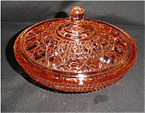 Libbey Peach Color Windsor Candy Dish