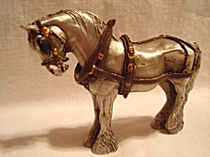 Hudson Villagers Horse Pewter Figurine
