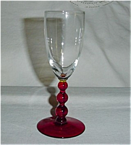 Ruby Red Stemmed Wine Glass