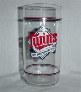 1991 Minnesota Twins Drinking Glass