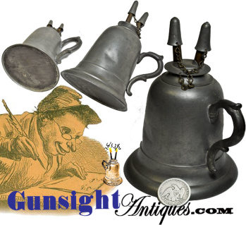 C. 1850 / 1860s Pewter & Tin Camphene -lamp