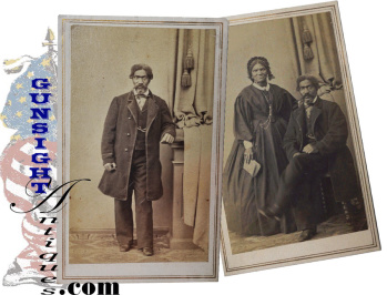 Civil War Vintage Cdvs - African American Couple