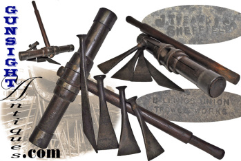 Turn Of The Century Ships Caulking Mallet & Irons - U.s.s. Constitution (Old Ironsides)
