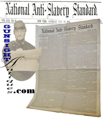 July 1861 Paper: National Anti-slavery Standard