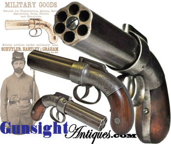 Allen & Thurber Pepperbox Percussion Pistol