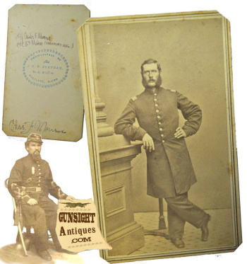 Civil War Cdv - Identified 8th Maine Infantry Officer - Died Of Wounds
