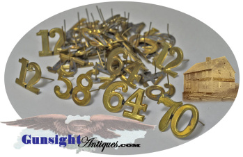 Original Civil War - One Piece / Two Digit - Regimental Numerals