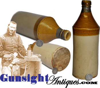 Quart - Stoneware Beer Bottle