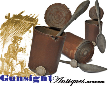 Original Civil War Vintage Tin Can & Spoon