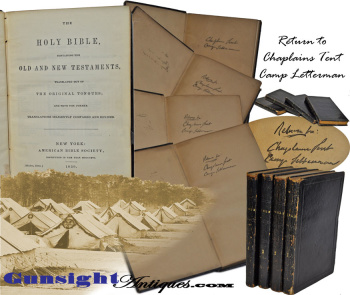 Gettysburg - Camp Letterman Chaplain's Tent - 4 Volume Bible