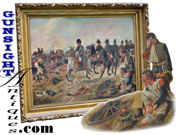 Napoleon Bonaparte & The Battle Of Waterloo -oil Painting