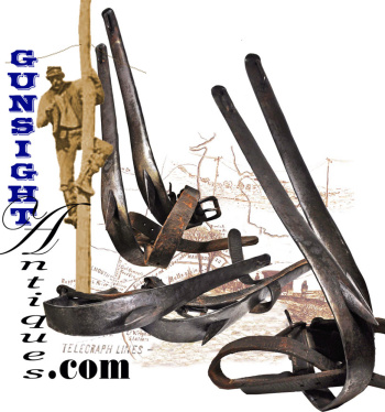 Civil War Era Telegraph Climbing Irons