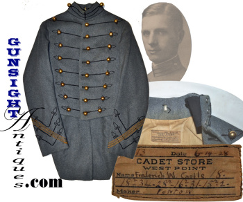West Point Tail Coat Of Wwii Army Air Corps Kia- M O H Recipient - Brig. Gen. Frederick W. Castle