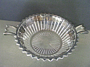 Vintage Heisey Ridgeleigh Ear Handled Serving Dish