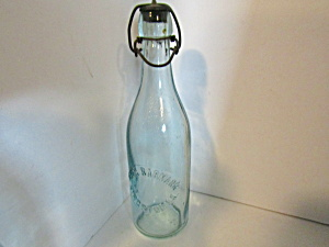 Antique Peter Barmann Aqua Blob Top Beer Bottle