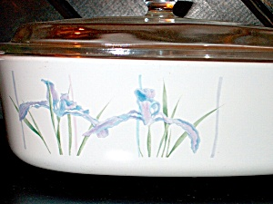 Vintage Corning Ware Covered Casserole Shadow Iris