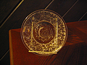 "Anchor Hocking Crystal Sandwich Glass 6"" Saucer"