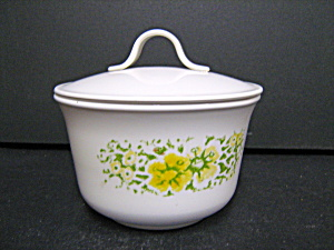 Vintage Corelle April Coverd Sugar Bowl