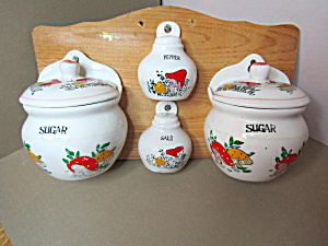Vintage Hanging Sugar Bowl & Creamer Salt&pepper Set