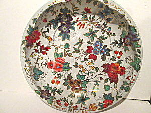 Vintage Daher Decorated Ware Floral Design Bowl