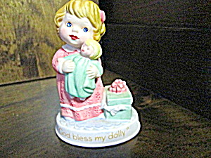 Avon Tender Memories Figurine God Bless My Dolly