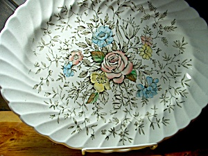 British Anchor Floral Bouquet 12 In. Platter