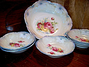 Vintage Bavaria Pearl Luster Berry Set China