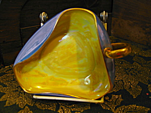 Vintage Bavaria Lusterware Handled Triangular Dish