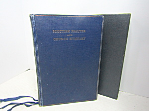Vintage Religous Book Scottish Psalter & Churcu Hymnary