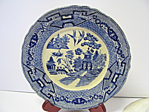 Vintage Buffalo Pottery Willow Dinner Plate