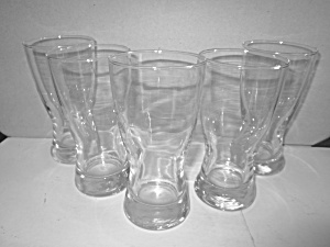 Vintage Clear Glass Beer Glasses