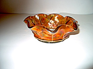 Vintage Carnival Heavy Glass Candy Bowl
