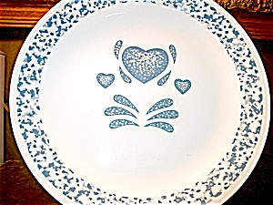 Corelle Blue Hearts Dinner Plate