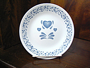 Corelle Blue Hearts Bread/butter Plate