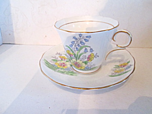 Colclough Yellow Floral Bone China Cup & Saucer Set