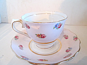 Colclough Pink Rose Floral Bone China Cup & Saucer Set