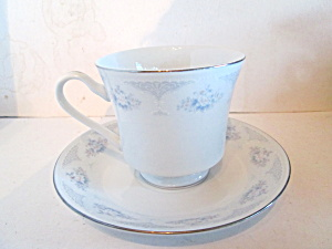H Fine China Blue Floral Cup & Saucer Set