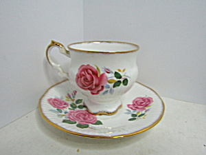 Elizabethan Pink Rose Bone China Cup And Saucer Set