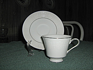 Crown Empire Princess Footed Cup And Saucer Set