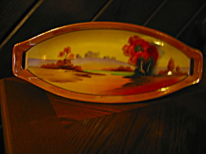 Lusterware Chickaramachi Celery/serving Dish