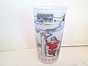 Vintage Northpole Home Of Santa's Work Shop Glass