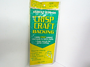 Vintage Stacy Iron-on Crisp Craft Backing