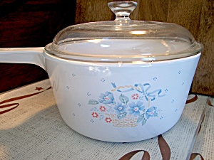Corning Ware Sause Pan Country Cornflower