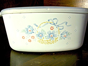 Corning Ware Casserole Country Corn Flower