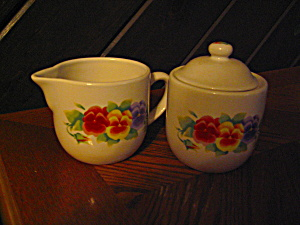 Corelle Sumer Blush Creamer And Sugar Bowl Set
