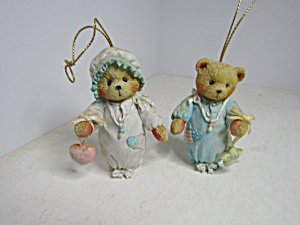 Cherished Teddies Boy & Girl Teddy Ornament Set