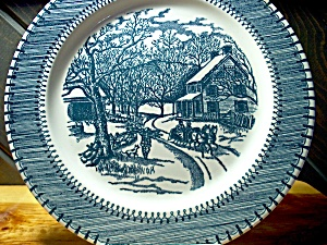 Currier&ives Dinner Plate American Homestead Winter